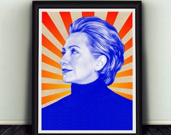 11x14 Hillary Clinton Campaign Poster Print