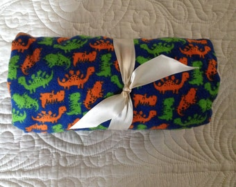 Baby Crib Sheet or Toddler Bed Sheet - Flannel - Dinosaurs