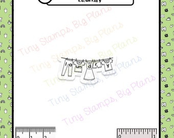 Planner stamp - hanging laundry ECLP stamp