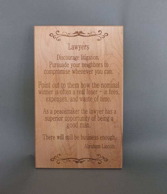 Engraved sign for judges or laywers.  beautiful gift for your favorite attorney, law student or teacher. Great  graduation gift!