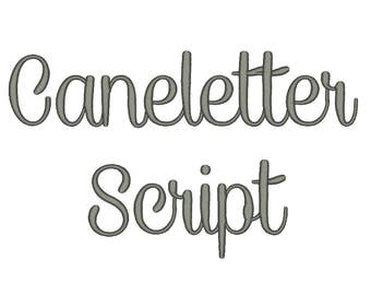 Caneletter Script Font Embroidery Font Machine Embroidery Alphabet Monogram Font Designs 5 Size BX Embroidery Fonts - INSTANT DOWNLOAD