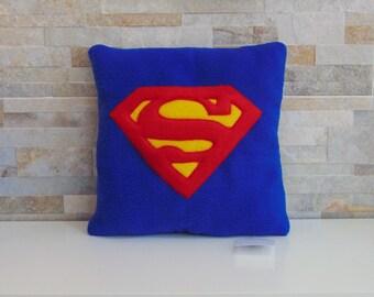 Superman cushion Handmade - Icon Plush Pillow - Handmade in Italy