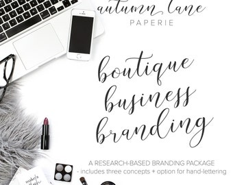Boutique Business Branding Package - Custom Logo - Handlettered Logo - OOAK Logo - Hand-lettered Custom Logo - Luxury Branding - Feminine