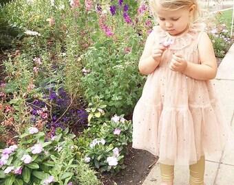Twinkle Twinkle Little Star Dress. Childrens Dress. Girls Party Dress,  Pink Sparkle Dress. Star Dress. Girls Sparkle Dress.