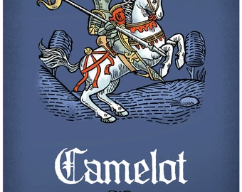 Pocket size Camelot passport style notebook, Knights of the round table notebook,  Holy Grail quest notebook,