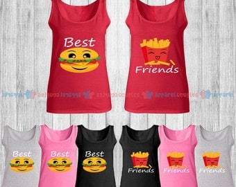 BFF Best Friends - Best Friend Forever Matching Tank Top - BFF Tank Tops