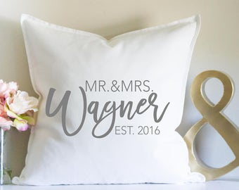 Wedding Gift, Personalized Gift, Mr and Mrs, Anniversary Gift, Bridal Shower, Custom Name Gift, Newlywed Gift, Bride and Groom, Family Name