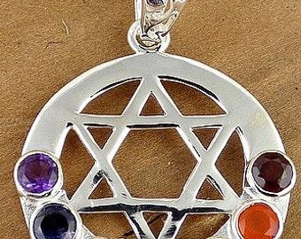 STAR OF DAVID pendant chakra, jewel during reiki, lithotherapy balancing da30