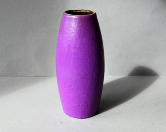 Vase by Scheurich, West Germany, warm purple color, WGP model 522-18, seventies, vintage, retro