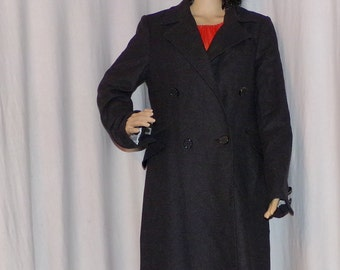Woman's Wool Designers Trench Coat, ABS Collection by Allen Schwartz, new versions are Super Bucks, Vintage Find, Size 8 Must See!