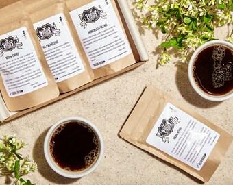 Bean Box Gourmet Hawaiian Coffee Sampler - (4 handpicked Hawaiian roasts including 100% Kona, fresh roasted coffee gift box)