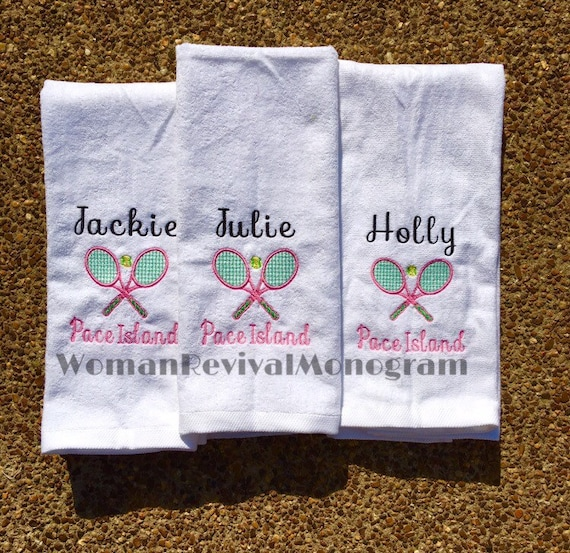 Tennis Gifts Personalized Tennis Towel Custom Designed
