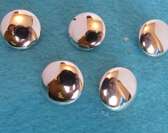 Gold or Silver Domed Buttons