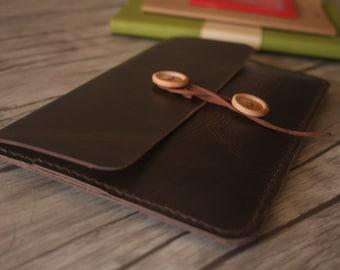 Nook Glowlight Case, Kindle Paperwhite Sleeve, Kobo Covers, Hand Stitched Leather E-Reader Portfolio, Kobo Glo Covers Case