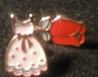 Sweet heart, dress, and rose, lapel, brooch,pin, FREE SHIPPING