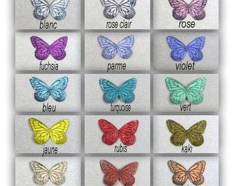 """Butterfly polysoie 3.5 cm """"Mia"""" sequined silver"""