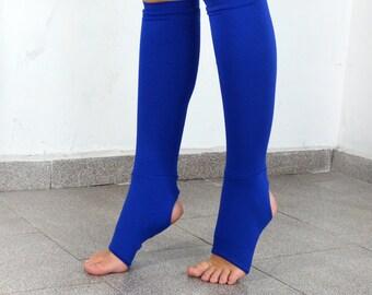 Blue legwarmers / leg warmers/ yoga leg wormers/ sport legwarmers.