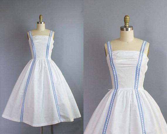 1950s Cotton Sundress/ Small (33b/25w)