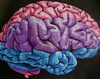 "Brain Print 22"" x 31"""