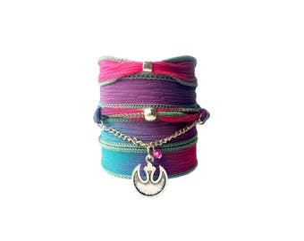 Rebel silk wrap bracelet