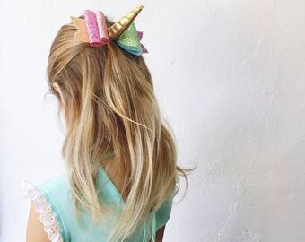 Rainbow Unicorn Bows