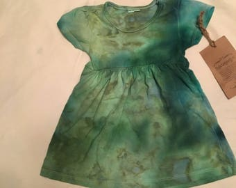 12-18mth ice dye seaglass infant dress 12-18 mth