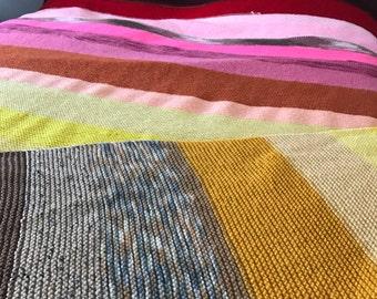 Warm Tones Knit Afghan