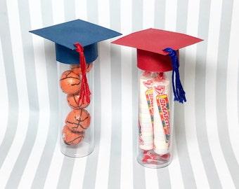 Graduation Party Favors - Graduation Cap Candy Tube, set of 10 - Candy Tubes - Party Favors - Graduation Party Decorations-Graduation favors
