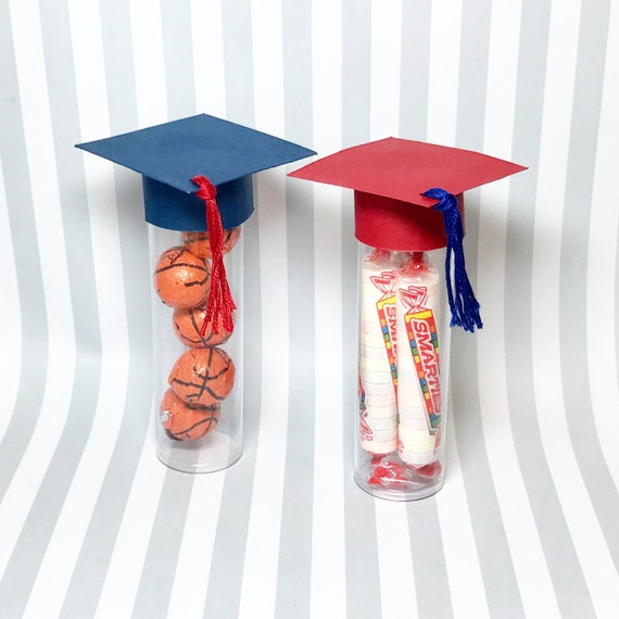 Graduation Party Favors Cap Candy Tube Set Of 10