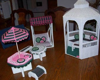 Barbie Furniture, Barbie House, Plastic Canvas Barbie Sets, Furniture for barbie, Doll Furniture, Play furniture, Doll House Furniture