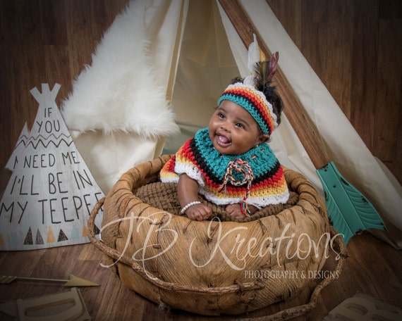 Baby prop outfit Baby Indian Clothes Baby by