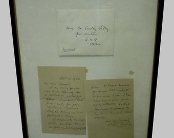 1949 Prime Minister Letter to WWII Brigadier General Courtney Whitney