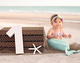 Baby mermaid tail, mermaid birthday outfit, mermaid costume, baby shower gift, newborn photo prop, first birthday outfit, handmade baby gift