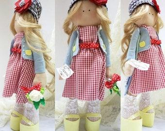 Tilda doll Francesca, handmade