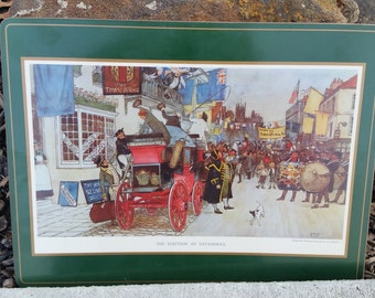 Vintage Pimpernel Placemats, Or Coasters, The Eletion At Eatanswill,Signed By A. Ludovici   (B)
