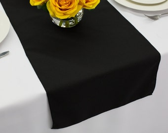 Black Table Runner Polyester | Wedding Table Runners