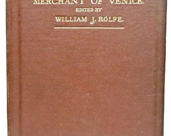 1894 Shakespeare's Comedy of The Merchant of Venice Shakespeare