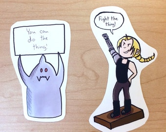 Elric Brothers Sticker Pack - Ed and Al Motivate You (Fullmetal Alchemist/Fullmetal Alchemist Brotherhood - Edward and Alphonse Elric)