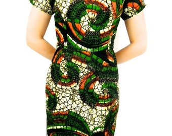 African Print Dress, African Clothing, African Dress, African Dresses, Ankara Dress, Midi Length, Office Wear
