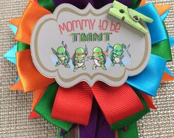 Ninja Turtles TMNT Inspired - Baby Shower Pin