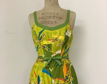 Vintage 50s/60s Miss Hawaii Swimsuit & Coverup Set