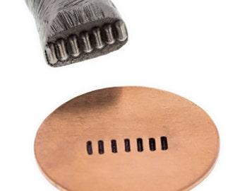 Rectangular Line Pattern Stamp Jewelry Making Metal Forming Marking Stamping Tool - PUN-100.22