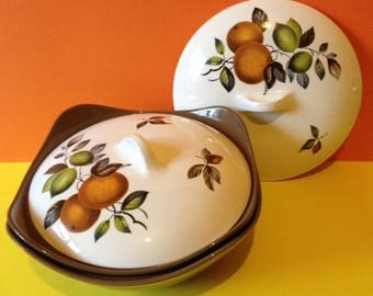 1960's Midwinter Stylecraft, 2 tureens, oranges and lemons design