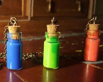 Legend of Zelda Potion Necklaces. Creative Gift for Gamers. Unique Nerd Fashion