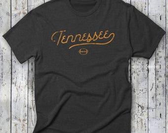 TENNESSEE Football Tshirt -- Tennessee Volunteers, Retro/Vintage Tee, UT