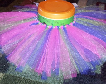 infant/toddler purple, pink, green tutu, elastic waist