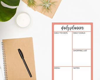 Daily Planner Notepad • To Do List • Coral Notepad • To Do List Notepad • Planner Notepad • Daily Planner • Organization • Productivity