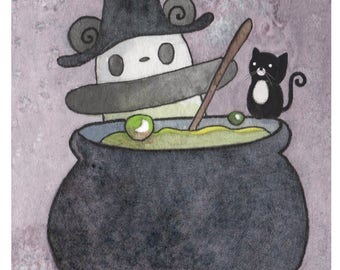 Pocket Pandas™ - Witch - 8.5x11 Print