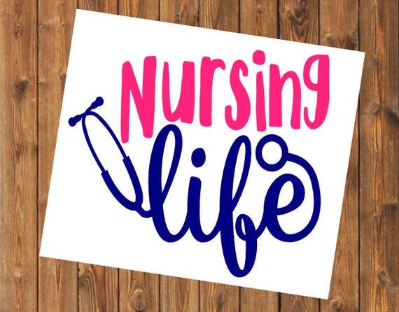 Free Shipping-Nurse Life, Nursing Life, Yeti Rambler Decal, Yeti Cooler, Laptop Sticker, Nurse, Doctor, RN, LPN, Nursing Student Yeti decal