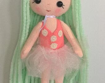 Gingermelon ballerina doll. Individual handmade doll.